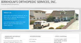 "<a href=""http://www.birkholmorthopedicservices.com/"">Birkholm's Orthopedic Services</a>"